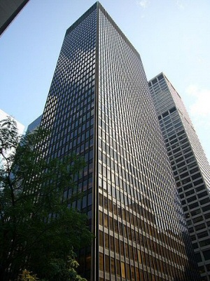 The Seagram Building Is Located In Midtown Manhattan At The Heart Of New  York City. It Is One Of The Most Commonly Cited Examples Of Corporate  Modernism In ...